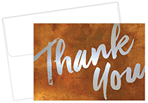 Copper Wall Thank You Notecard 50CT