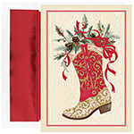 Christmas Boot Holiday Cards 18CT
