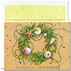 Beach Wreath Holiday Card 18CT
