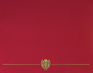 Red Classic Crest Certificate Cover 5CT