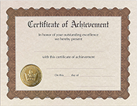 Achievement Stock Certificate 6CT