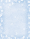 Winter Flakes Letterhead 25CT